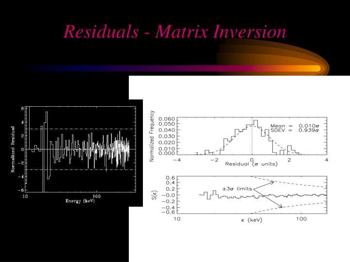 Residuals - Matrix Inversion