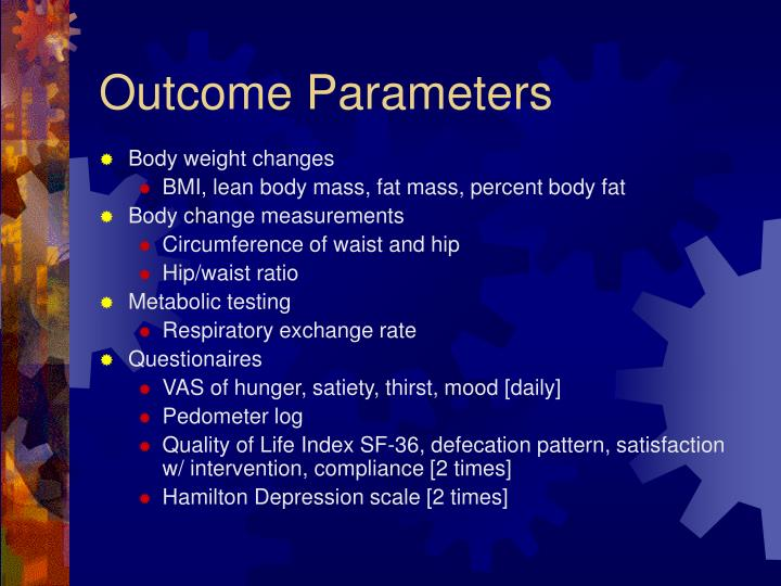 Outcome Parameters