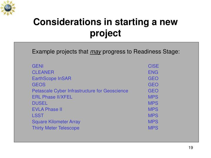 Example projects that