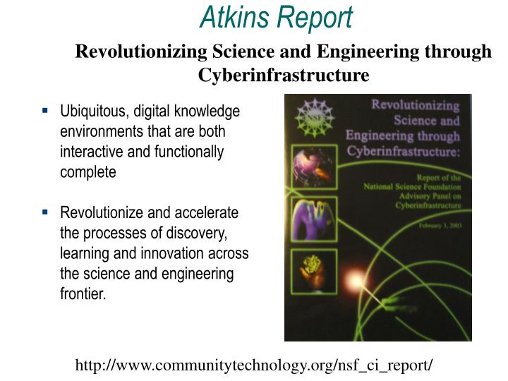 Revolutionizing Science and Engineering through Cyberinfrastructure