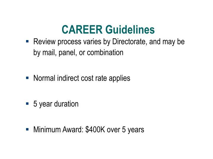 CAREER Guidelines