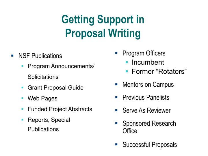 NSF Publications
