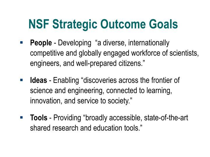 NSF Strategic Outcome Goals