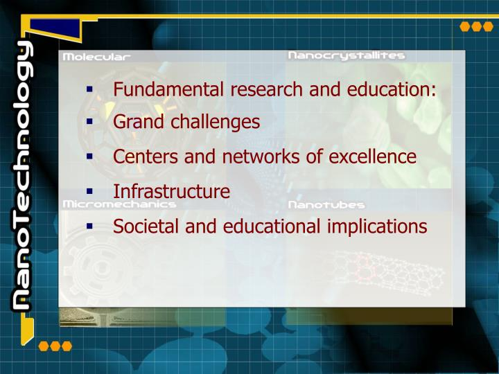 Fundamental research and education: