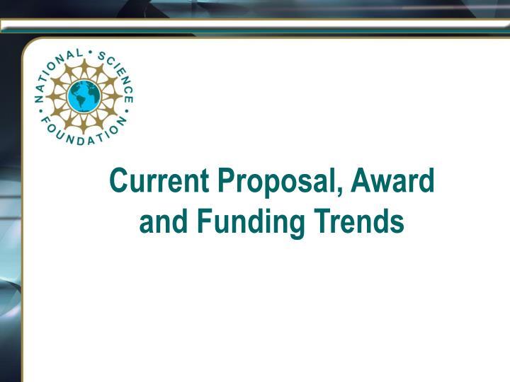 Current Proposal, Award