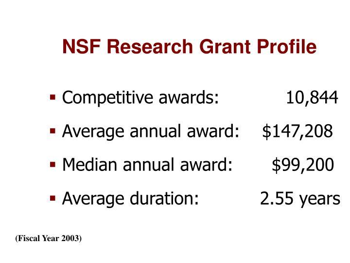 NSF Research Grant Profile
