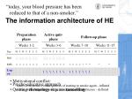 the information architecture of he3