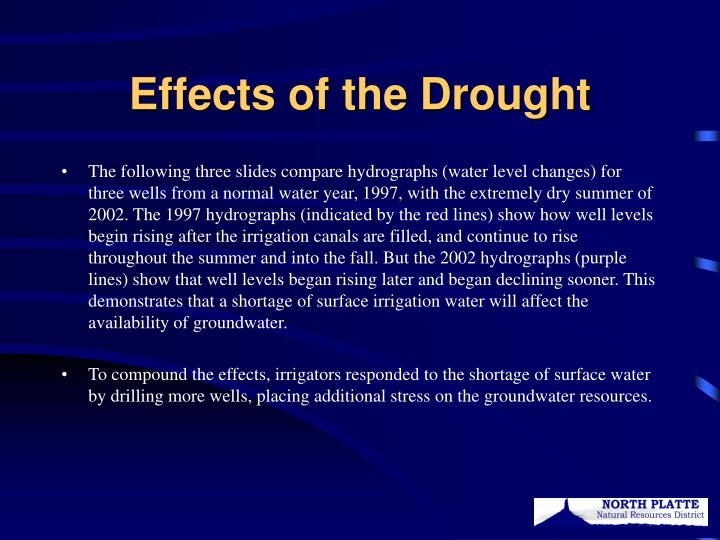 Effects of the Drought