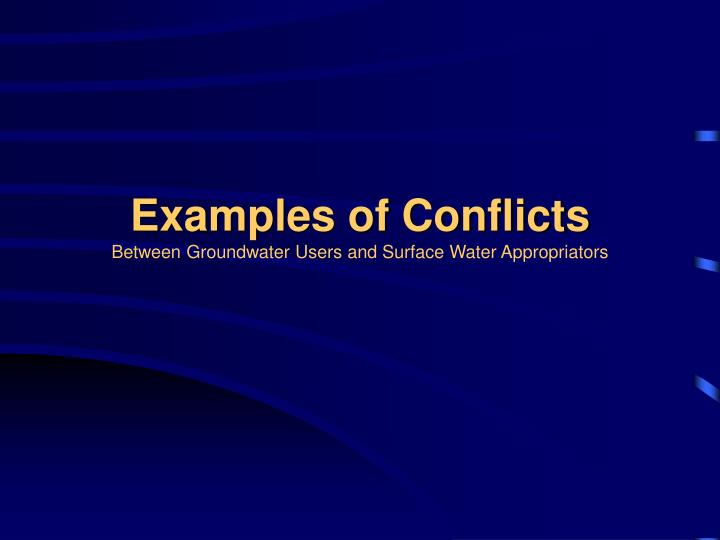 Examples of Conflicts