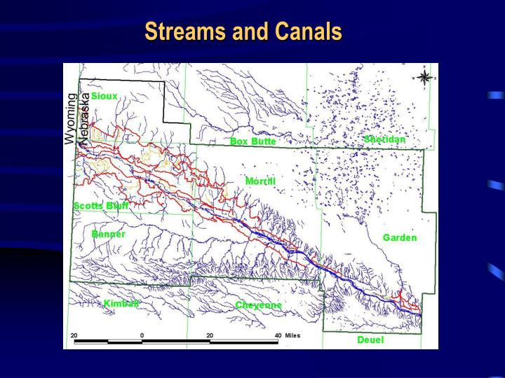 Streams and Canals