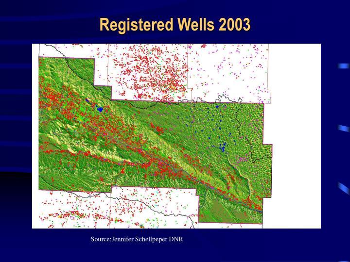 Registered Wells 2003