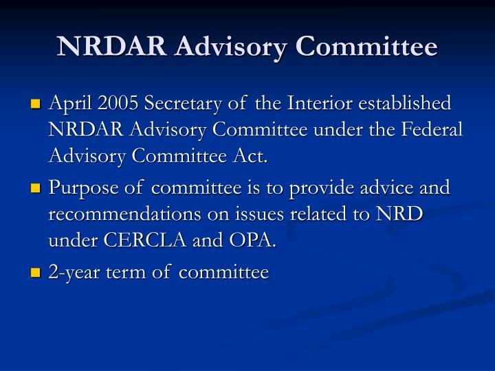 NRDAR Advisory Committee