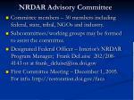 nrdar advisory committee1