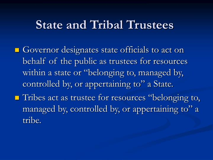 State and Tribal Trustees