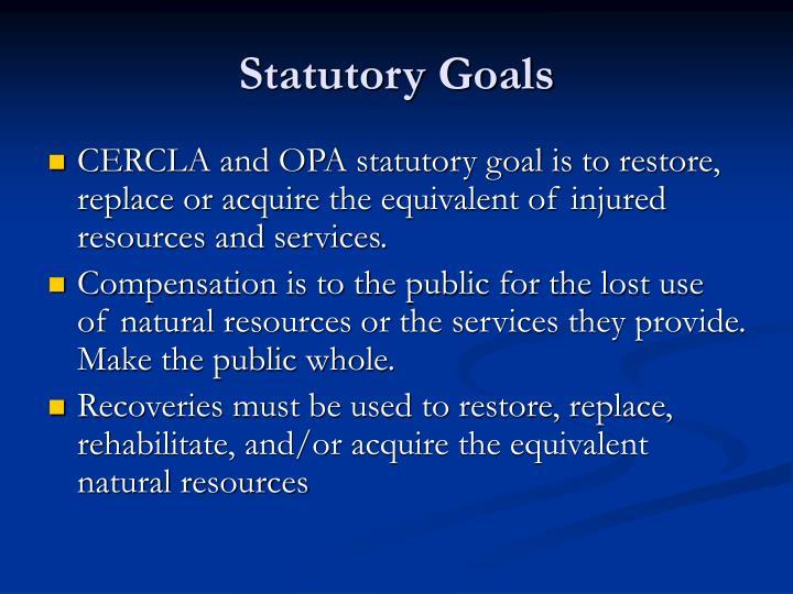Statutory Goals