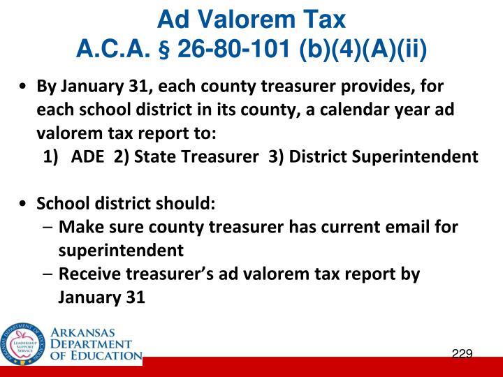 Ad Valorem Tax