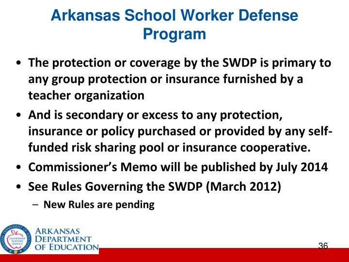 Arkansas School Worker Defense Program