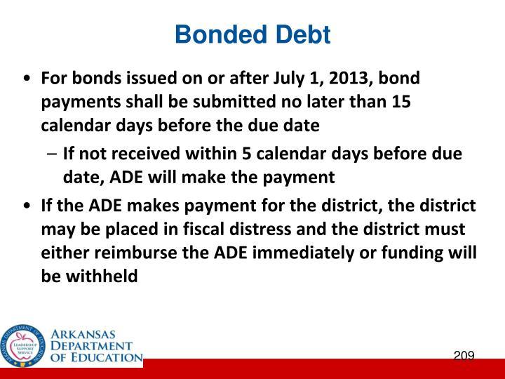Bonded Debt