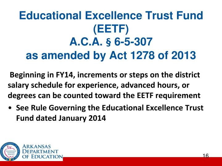 Educational Excellence Trust Fund (EETF)