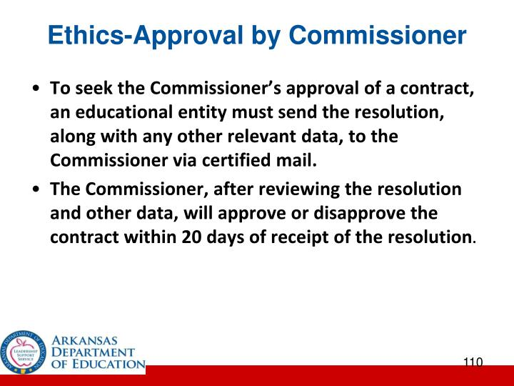 Ethics-Approval by Commissioner