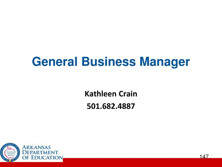 General Business Manager