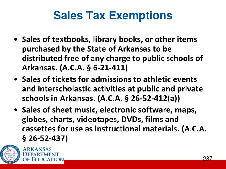 Sales Tax Exemptions