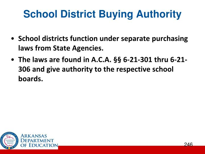 School District Buying Authority