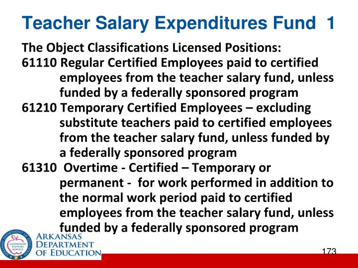 Teacher Salary Expenditures Fund  1