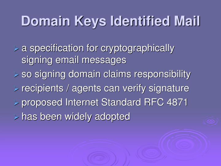 Domain Keys Identified Mail