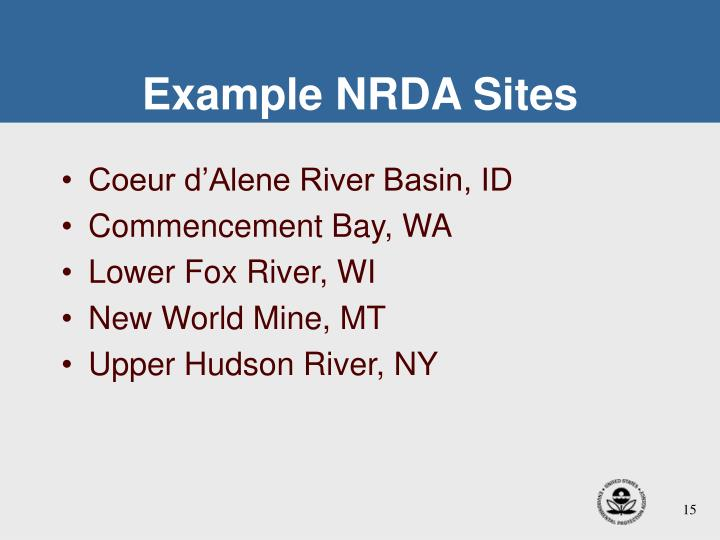Example NRDA Sites