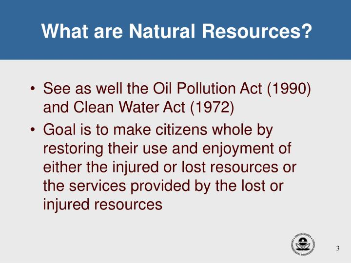 What are natural resources1