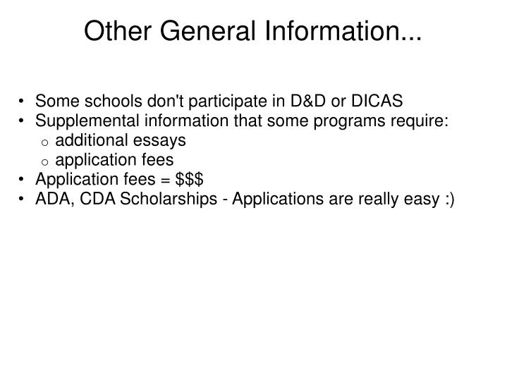 Other General Information...