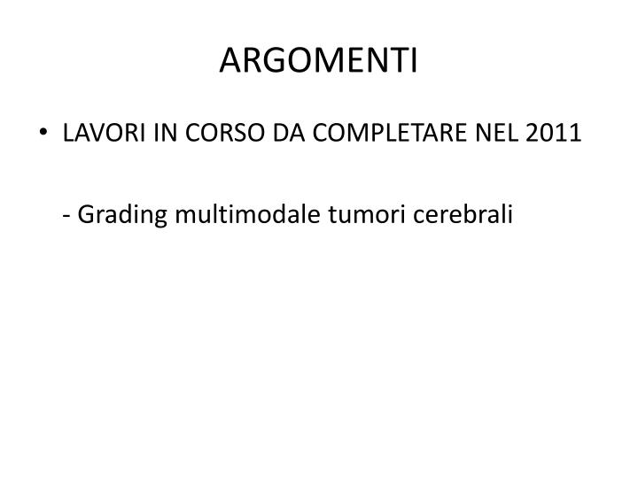 ARGOMENTI