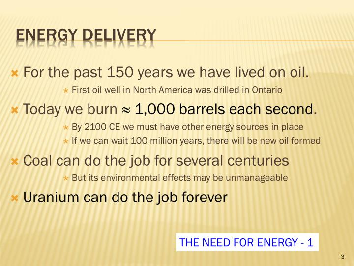 Energy delivery