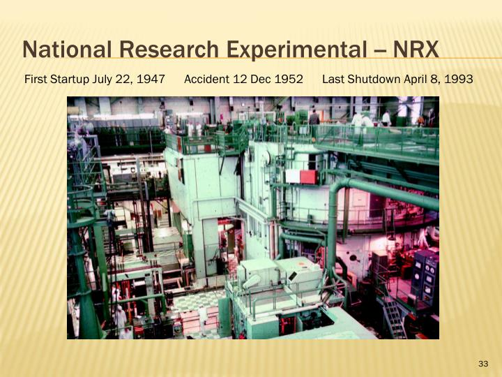 National Research Experimental -- NRX