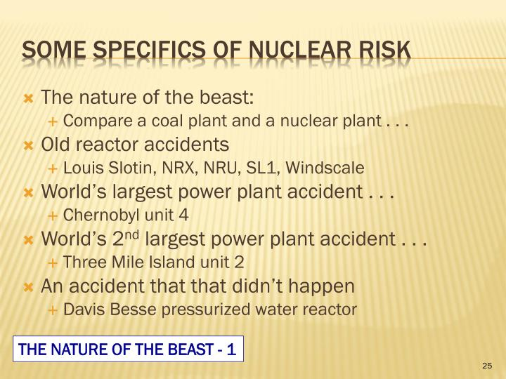 The nature of the beast: