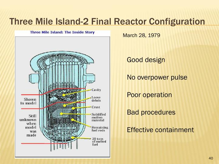 Three Mile Island-2 Final Reactor Configuration