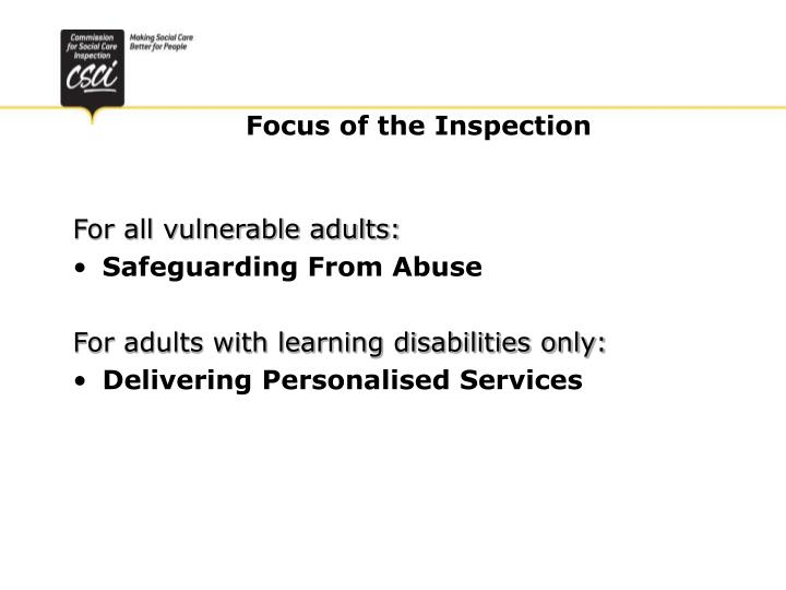 For all vulnerable adults: