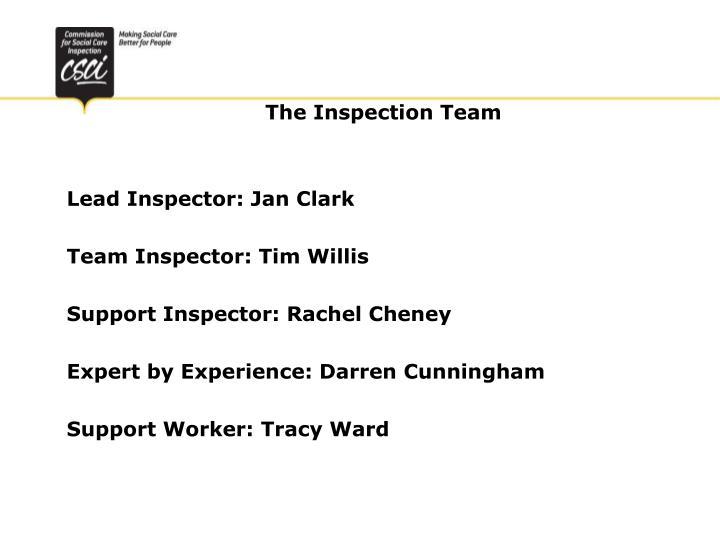 Lead Inspector: Jan Clark