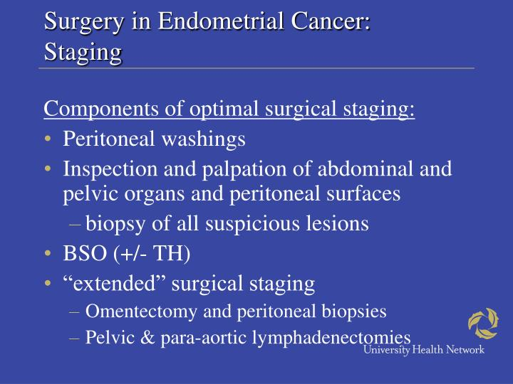 Surgery in Endometrial Cancer:
