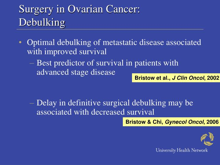 Surgery in Ovarian Cancer:
