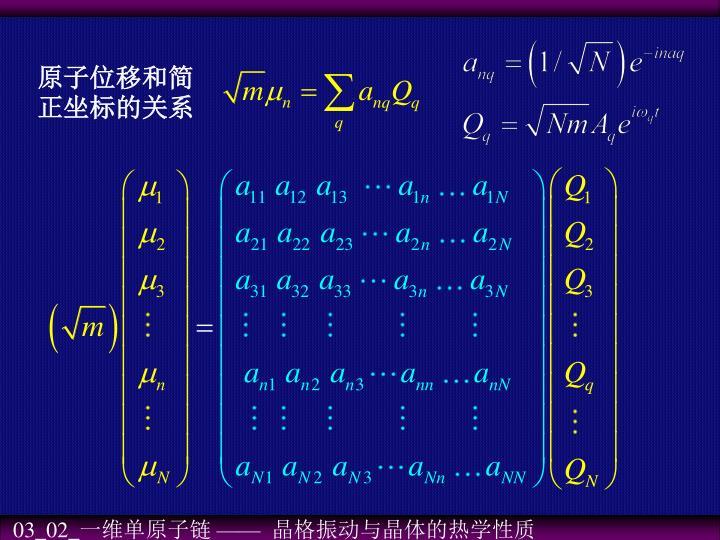 原子位移和简正坐标的关系