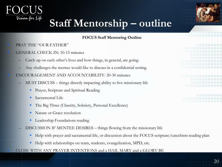 Staff Mentorship – outline
