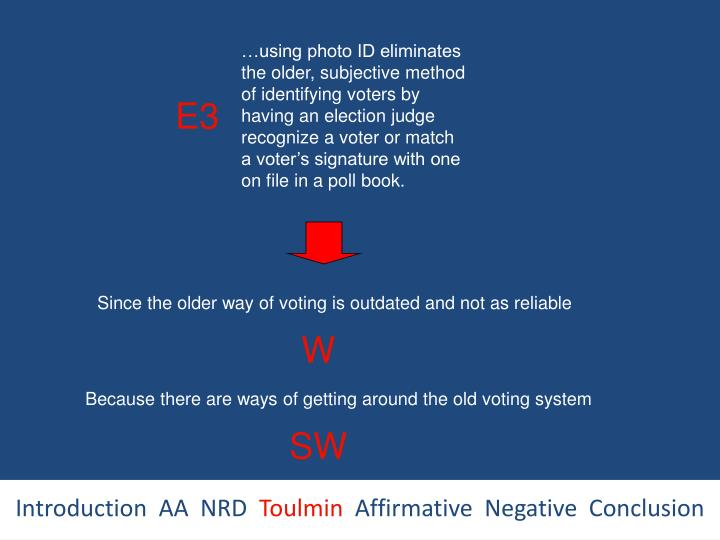 …using photo ID eliminates the older, subjective method of identifying voters by having an election judge recognize a voter or match a voter's signature with one on file in a poll book.