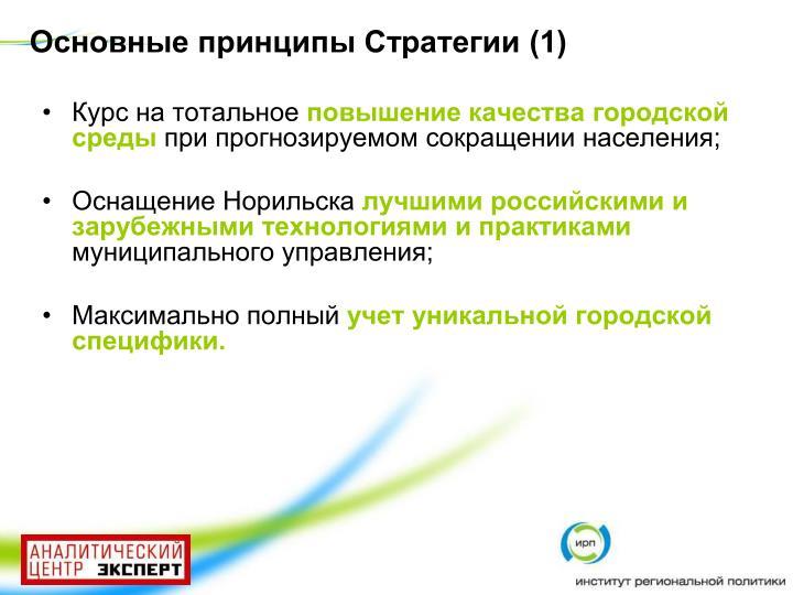 Основные принципы Стратегии (1)