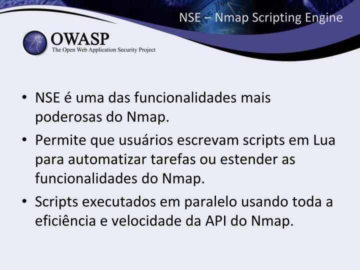 NSE – Nmap Scripting Engine