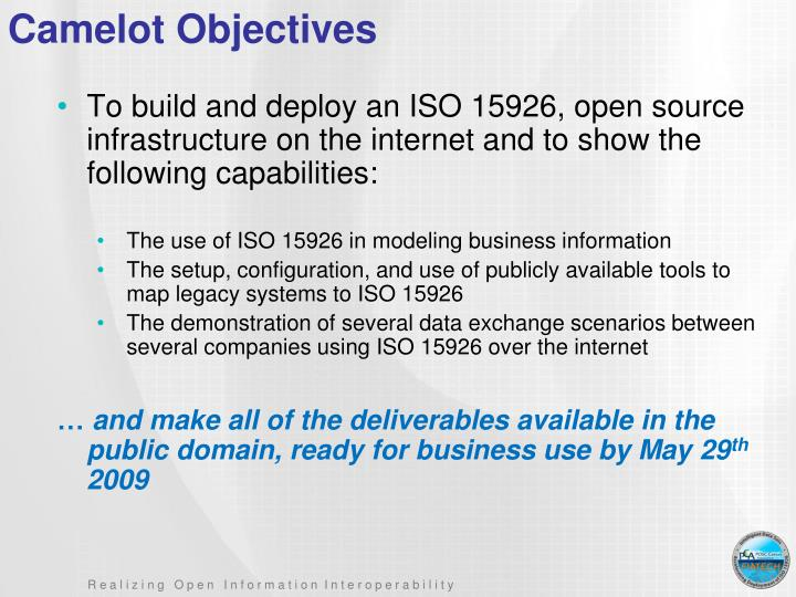 Camelot Objectives