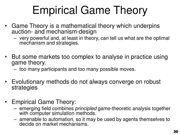 Empirical Game Theory