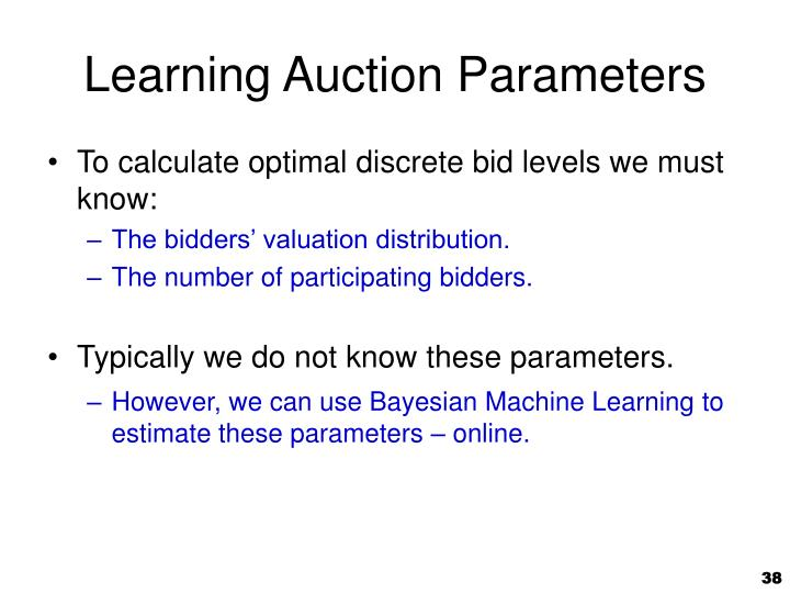 Learning Auction Parameters