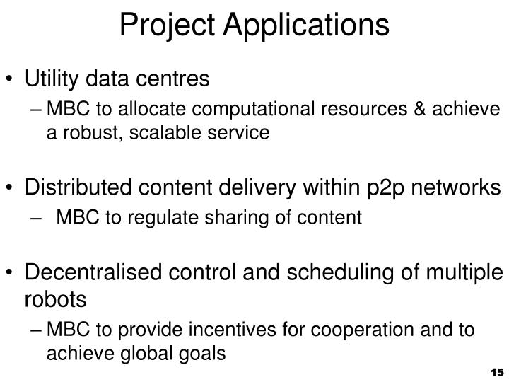 Project Applications